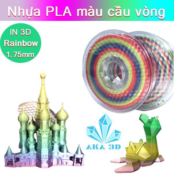 Giá Nhựa PLA in 3D cầu vòng , nhựa in 3D  PLA Rainbow Hàng hiếm