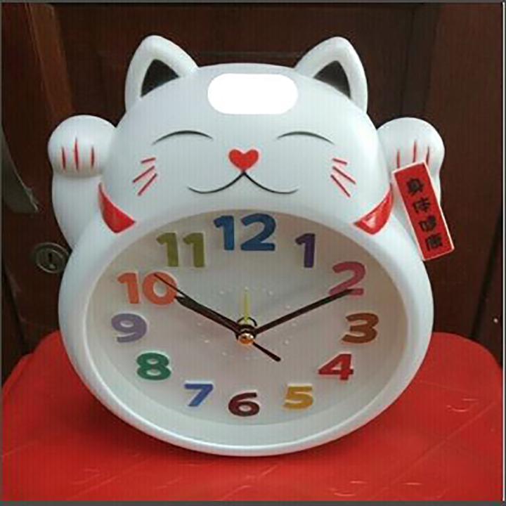 Nơi bán Đồng Hồ Báo Thức Hình Mèo Thần Tài May Mắn - PK197