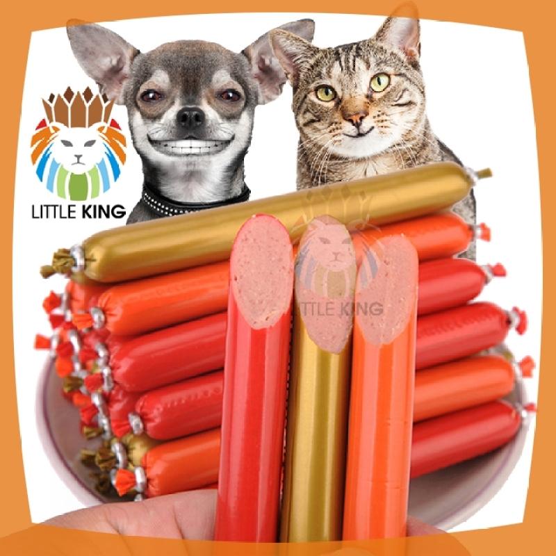 5 chiếc Xúc xích ăn liền 16gr cho chó mèo, hamster, thú cưng hương vị thơm ngon bổ dưỡng - Little King pet shop
