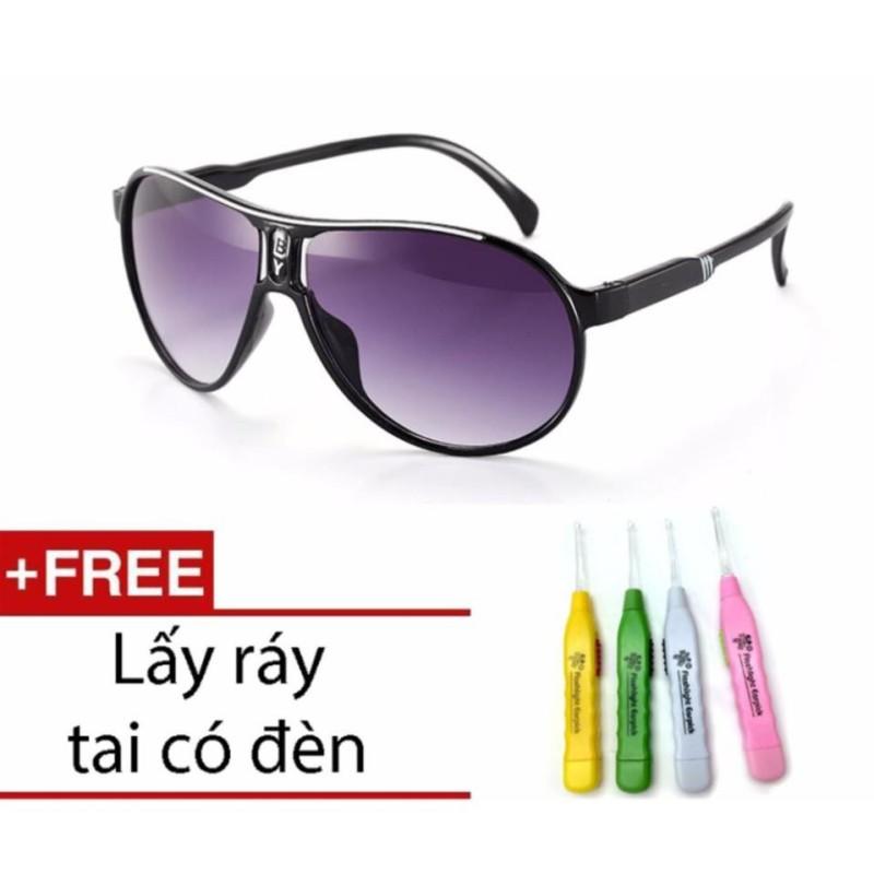 Giá bán Kính Mắt Thời Trang Trẻ Em Gọng Nhựa Chống Tia UV Kiểu Dáng Phi Công Cho Bé + 1 Ngoáy Tai Có Đèn Cao Cấp