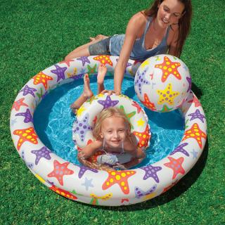 Bể bơi mini bao gồm cả bóng và phao bơi cho bé - bể Bơi Phao 3 Chi TIết Kèm Bóng Và Phao Bơi Cho Bé - Bể phao cầu vòng kèm bóng và phao - đồ dùng sinh hoạt cho bé - đồ chơi vận động cho bé - hồ phao cao cấp - đồ chơi cho bé ngày hè 7