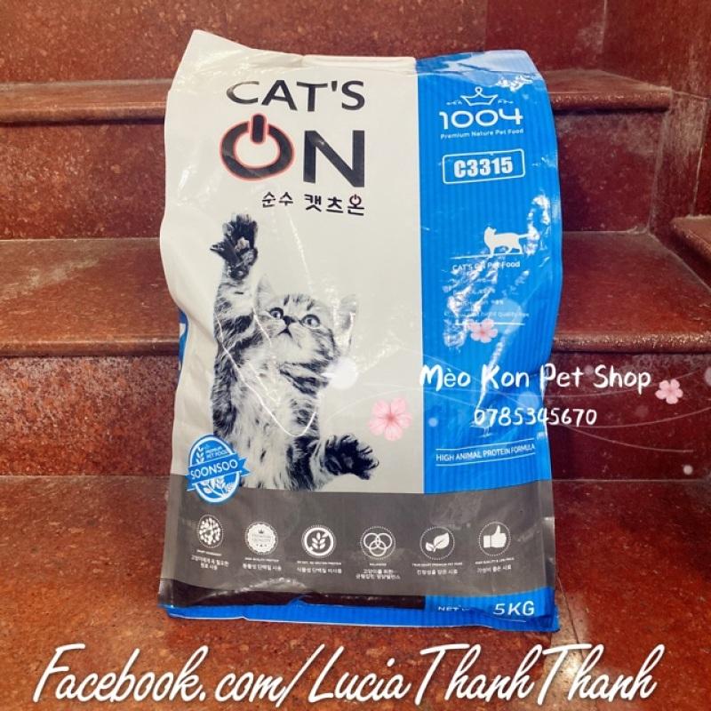 Thức ăn hạt khô cho mèo Hàn Quốc Cat's On túi 5 KG lẻ