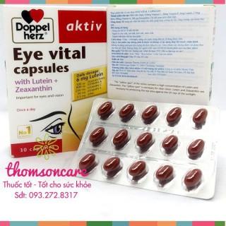 [Lấy mã giảm thêm 30%]Viên sáng mắt Aktiv Eye Vital của Doppelherz Aktiv Từ Đức sản phẩm có nguồn gốc xuất xứ rõ rang dễ dàng sử dụng cam kết sản phẩm y như hình thumbnail