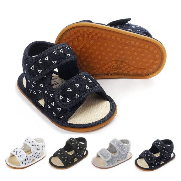 Giày tập đi Sandal cho bé trai bé gái từ 0-12 tháng đế mềm chống trơn trượt phong cách Hàn Quốc D18 giá rẻ