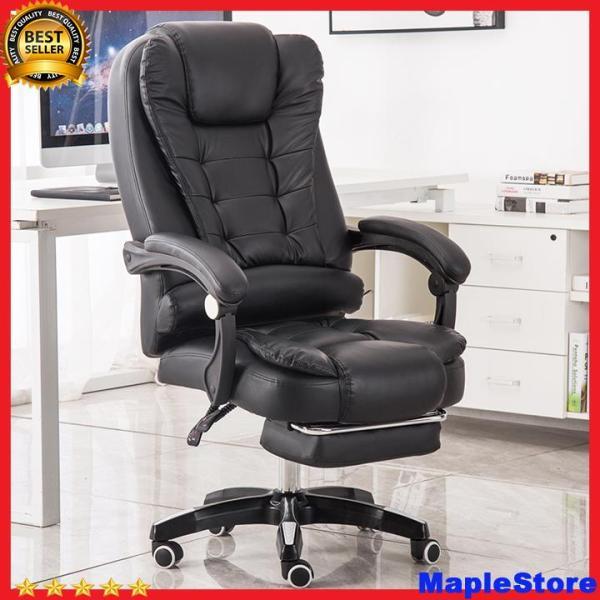 Ghế xoay văn phòng kèm massage lưng, có gác chân, chất liệu da pu cao cấp giá rẻ