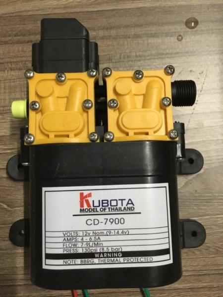 Máy bơm đôi KUBUTA tăng áp lực nước mini 12V 120W Lưu lượng 9L/phút Tự động hút và ngắt nước sử dụng cho bộ