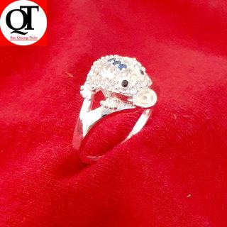 Nhẫn nữ Bạc Quang Thản, nhẫn bạc con Cóc ngậm kim tiền chất liệu bạc thật không xi mạ có thể chỉnh size tay yêu cầu, thíc hợp đeo phong thủy, thời trang QTNU29 thumbnail