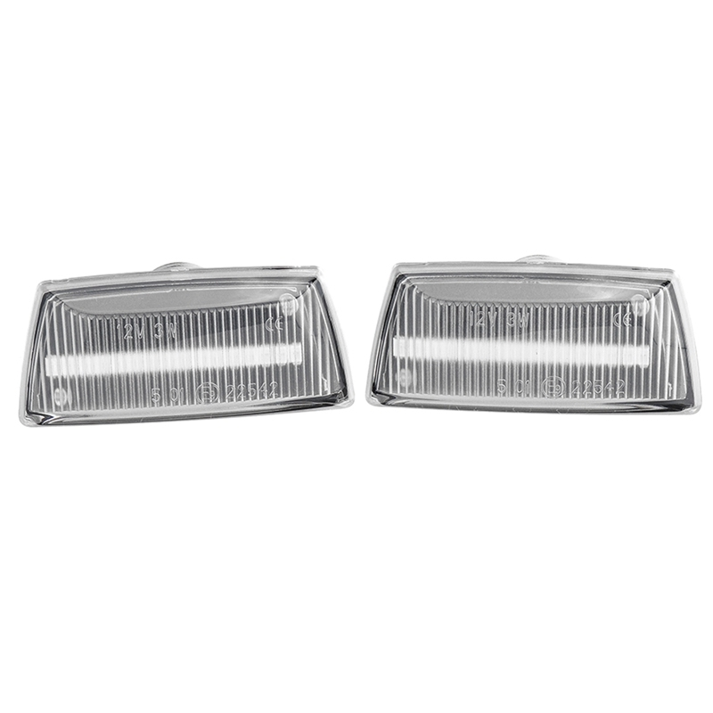 2Pcs Dynamic LED Side Marker Lights 12V Car Turn Signal Light Panel Lamp for Vauxhall for Chevrolet(Transparent)