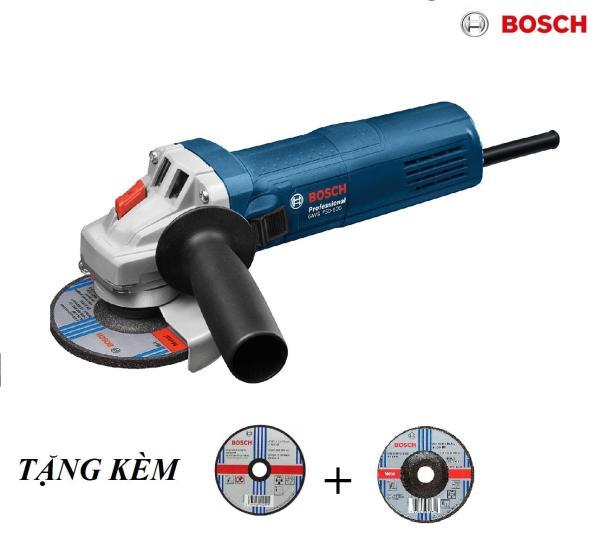 Máy Mài Góc Bosch Gws 750-100 + Tặng 1 Đĩa Mài, 1 Đĩa Cắt