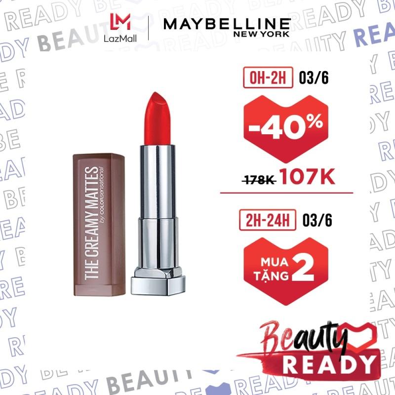 Son Lì Mịn Môi Không Khô Môi Maybelline New York Color Sensational The Creamy Mattes Lipstick 3.9g giá rẻ