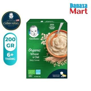 Bột Gerber Organic vị Yến Mạch và Lúa Mì Hộp 200gr thumbnail
