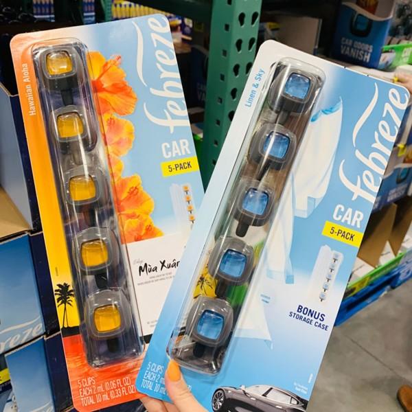Nước Hoa Ô Tô Febreze Cao Cấp Kẹp Cửa Gió Điều Hòa Xe Hơi Febreze Car Vent Air Freshener