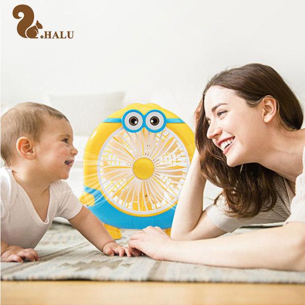 Quạt hình thú dễ thương, Quạt Minion, Quạt Mini để bàn, Quạt mini cho bé cắm điện, Gió tự nhiên, An toàn cho trẻ nhỏ