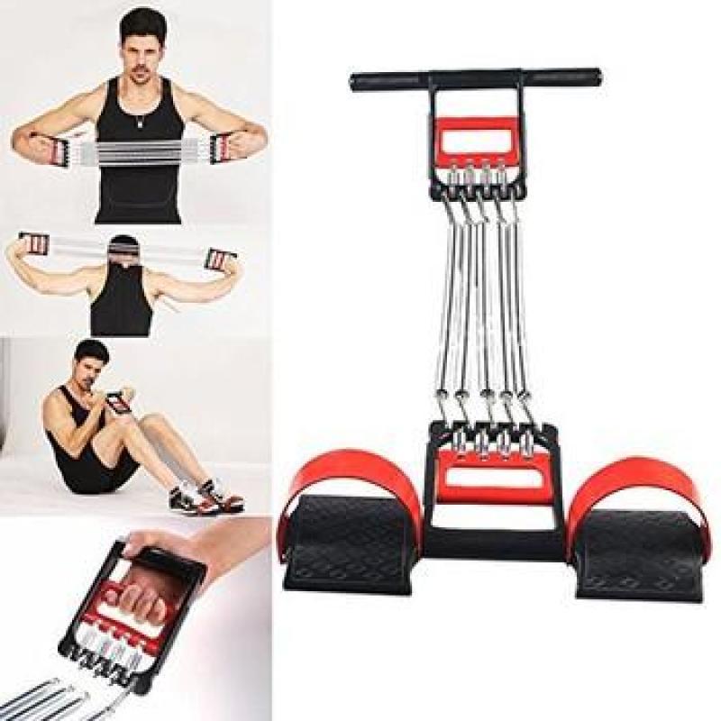 Đồ tập gym - Bộ dụng cụ dây kéo 5 lò xo tập cơ bụng cơ tay đa năng, Do tap gym - Bo dung cu day keo 5 lo xo tap co bung co tay da nang