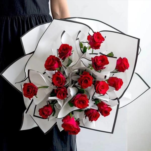 Giấy gói hoa cao cấp bóng mờ không thấm nước tệp 10 tờ