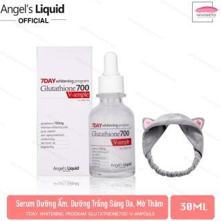 Huyết Thanh Dưỡng Sáng Da Angel s Liquid 7day Whitening Program Glutathione 700 V-Ample 30ml + Tặng kèm 1 băng đô tai mèo xinh xắn ( màu ngẫu nhiên) thumbnail