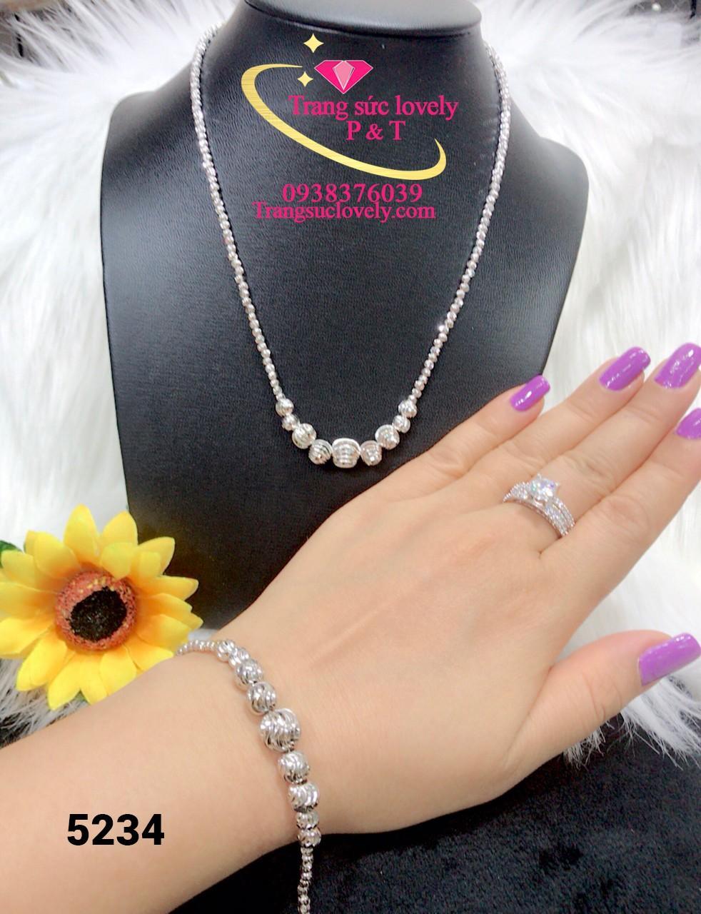 [GIẢM GIÁ CỰC SỐC] Bộ trang sức bạch kim, bộ trang sức nữ mạ vàng cao cấp 2 món dạng bi chuỗi chạm khắc hoa văn tinh tế sang trọng thiết kế đẳng cấp thời trang Trang sức Gadoshop KB230091924 - đeo đi đám cưới vô cùng quý phái