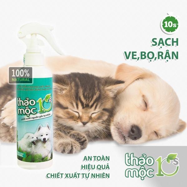 Bình Xịt Ve Rận Chó Mèo 250ml Thảo Mộc 10s