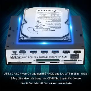 Ổ CD-ROM Đầu đọc thẻ 14 trong 1 USB Hub Bộ mở rộng OTB Tương thích với Windows, Mac OS và Linux Giao diện đầu ra Loại c, USB3.0, USB2.0, Đầu đọc SD TF, OTB, CF, SATA, Micro ( M2), MS, điều khiển chuyển mạch Ổ cứng 10TB thumbnail