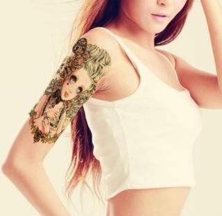 Hình xăm dán nữ tatoo Công chúa kích thước 15 x 21 cm - miếng dán hình xăm đẹp dành cho nữ thumbnail
