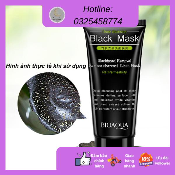 [Hàng nội địa] Gel mặt nạ than tre Bioaqua giúp giảm mụn đầu đen và chăm sóc da giá rẻ