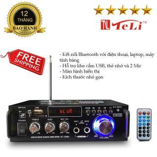 Bán Amply karaoke Bluetooth TPHCM, Amly Karaoke gia đình, Amli Bluetooth, Âm ly mini giá rẻ. TÌM MUA Amply Mini Karaoke Tely-BlJ253 12V-220V Bluetooth - Tích hợp chạy thẻ nhớ, USB, điều khiển từ xa, thu sóng FM radio, Micro- Thỏa sức ca hát thumbnail
