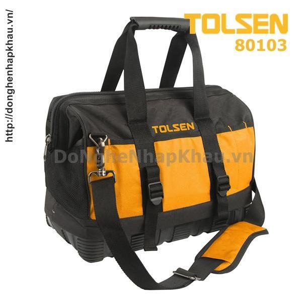 Túi Đồ Nghề Khung Cứng, Dài 40cm Tolsen 80103 - Chất Lượng Châu Âu