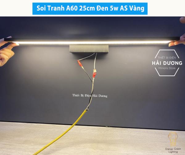 Đèn soi tranh - Đèn rọi gương Led Model A60 25-40-55cm Ánh Sáng Vàng - Có video thực tế