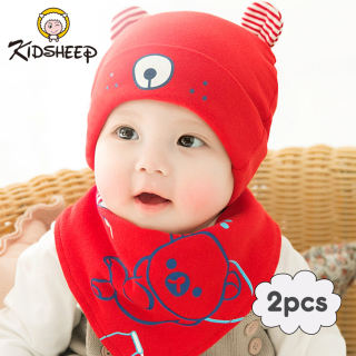 Kidsheep mũ len cho bé nón len cho bé Mũ len dệt kim kiểu dáng dễ thương dành cho bé từ 3 đến 8 tháng tuổi phù hợp mang trong mùa đông Mũ + khăn