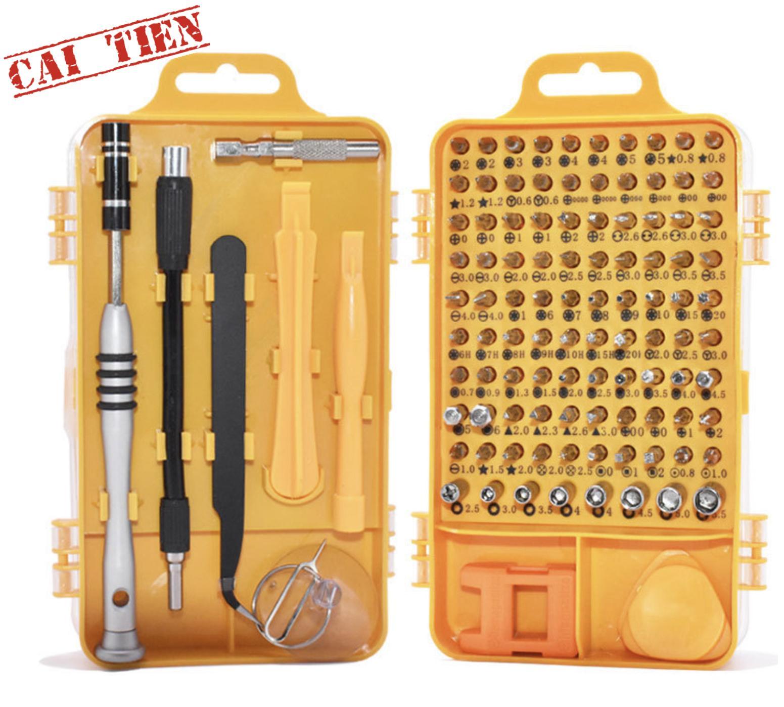 [ĐÃ CẢI TIẾN] Bộ công cụ tua vít chuyên sửa chữa tháo lắp điện thoại laptop đa năng 108 in1 (full 98 đầu vít) - Thép Cr-V