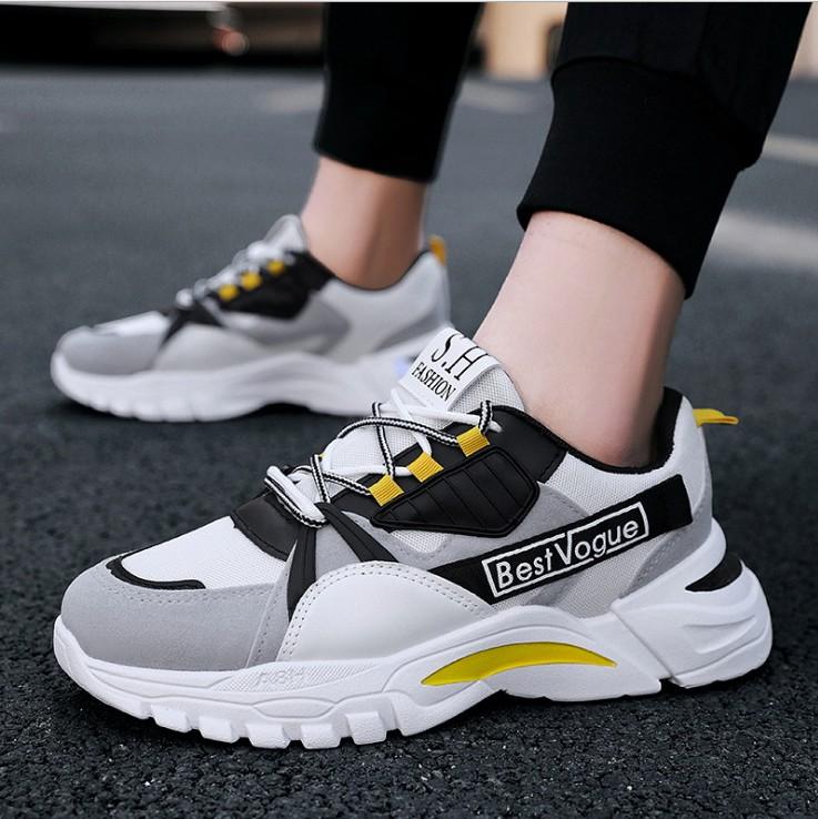 Giày thể thao sneaker nam đường may tinh tế, êm và ôm chân, đế cao su dày dặn, phong cách trẻ trung thời trang MINH HÀ - 315