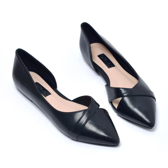 [Form lớn giảm 1 size] Giày búp bê hở eo Merly 1266 giá rẻ