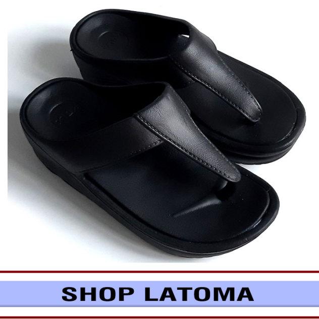 Dép kẹp dép xỏ ngón nữ thời trang đế xuồng cao 5 phân êm chân đi lại thoải mái Latoma TA3621 (Đen)[Dép Form nhỏ quý khách vui lòng chọn tăng hơn 1 size ] giá rẻ
