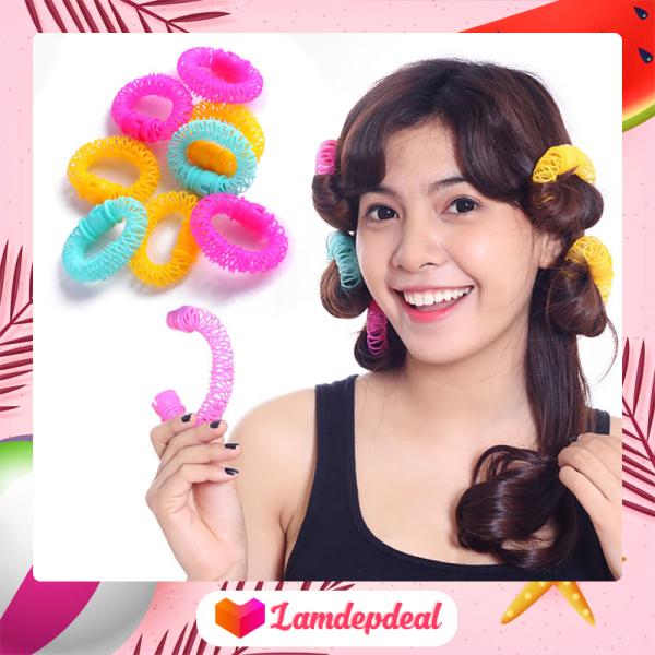 ♥ Lamdepdeal - Lô uốn tóc lò xo không dùng nhiệt - Lô cuốn tóc giá rẻ, dễ sử dụng - Dụng cụ làm tóc giá rẻ