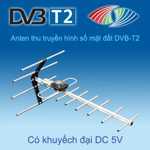 ANTEN (ăngten) DBV T2 TRUYỀN HÌNH SỐ MẶT ĐẤT ngoài trời khếch đại tín hiệu