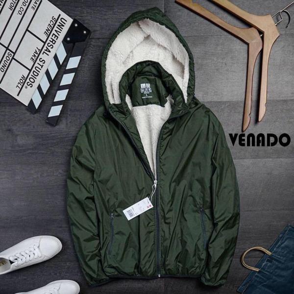 [Loại Đẹp] Áo khoác nam gió lót lông cừu 3 lớp cực ấm chống rét mùa đông túi khóa tháo rời tiện lợi Venado áo khoác lót lông cừu nam hot 2021