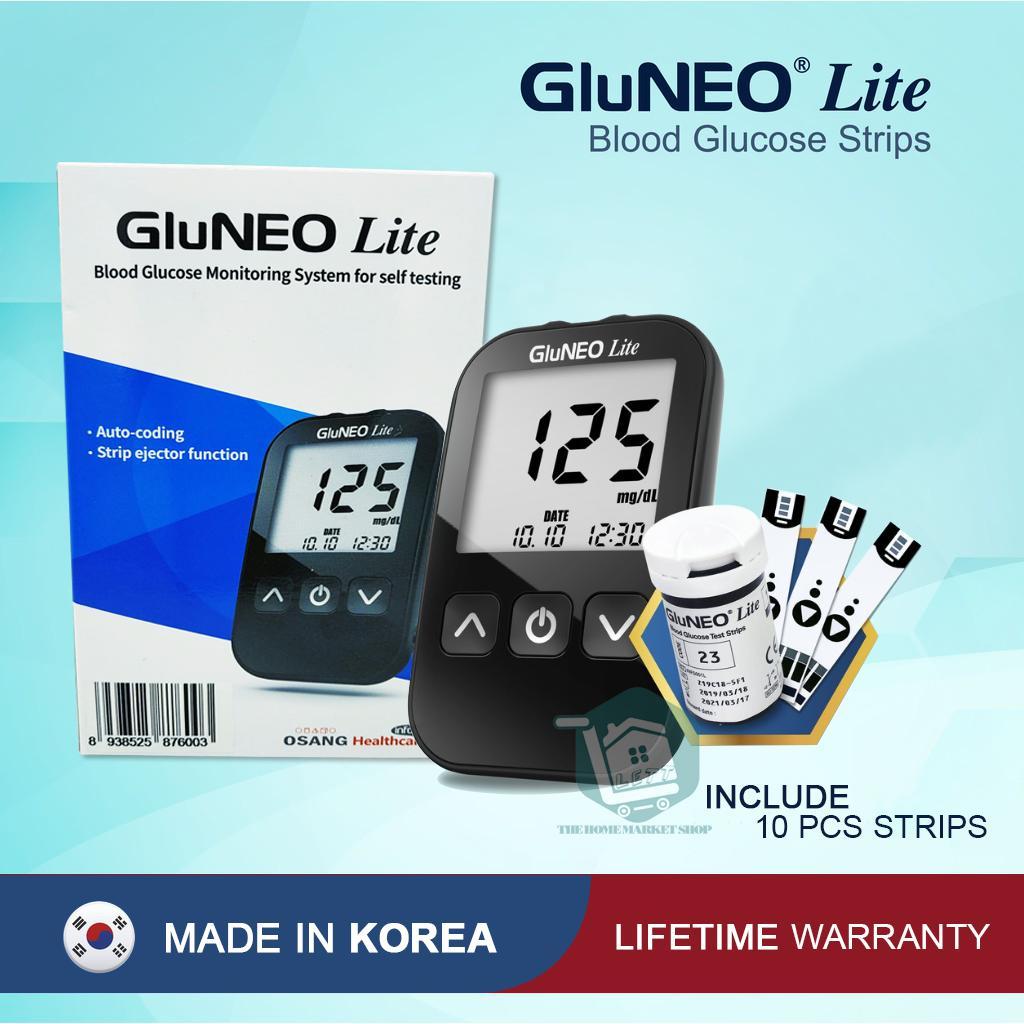 Nơi bán Máy Đo Đường Huyết GluNEO Lite - Tặng kèm 10 que thử đường huyết, 10 kim chích máu
