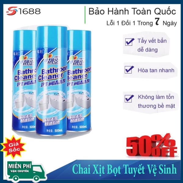 Chai Xịt Bọt Tuyết Vệ Sinh Nhà Tắm/Nhà Bếp Bathroom Cleaner 500ml - Siêu Sạch - Siêu Sáng Bóng