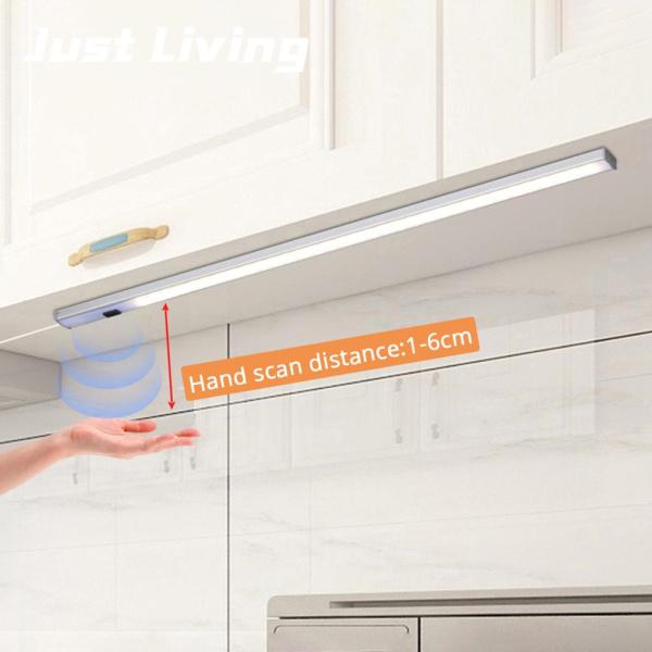 Đèn led thông minh chạy usb 5v cảm biến quét tay độ sáng cao cho tủ quần áo ngăn kéo nhà bếp 30/40/50 cm - INTL