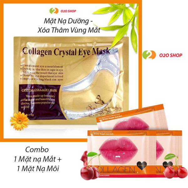 [Combo 2 Loại] Mặt Nạ Môi Collagen Images Và Mặt Nạ Dưỡng Làm Mờ Quầng Thâm Mắt Collagen Crystal Eyes – giá rẻ