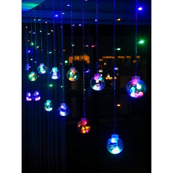 Đèn nháy mành les quả cầu ( dài 5m -10 quả cầu )
