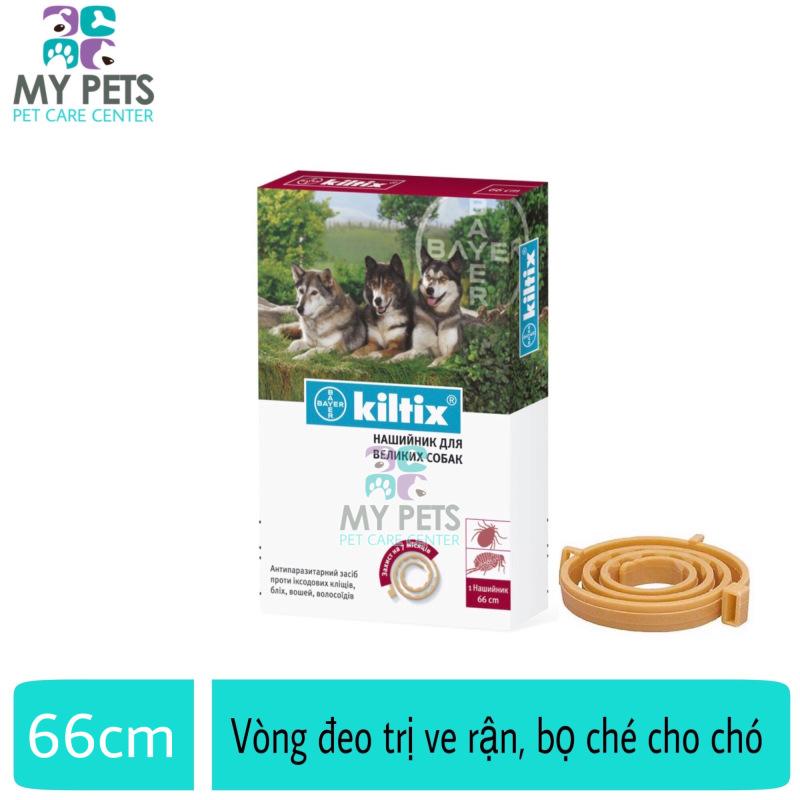 Vòng đeo trị ve ghẻ, bọ chét cho chó - Vòng đeo Bayer Kiltix cho chó trên 20kg