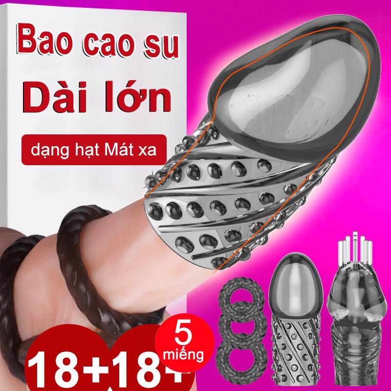 Nam mở rộng tay áo silicone tư nhân - Ngăn ngừa xuất tinh sớm - Baile Sho- cao cấp