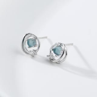 Bông tai khuyên nụ bạc S925 khuyên nụ thời trang cá tính cho nữ bạc thật S925 Italy B2427 - Bảo Ngọc Jewelry thumbnail