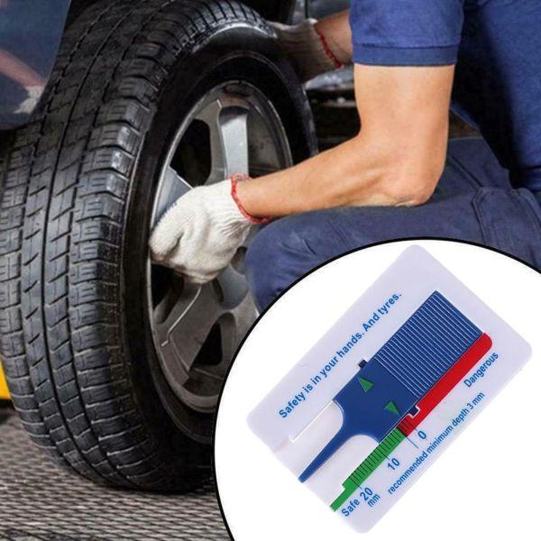 LIANGSI Cầm tay Chất lượng cao Công cụ đo bánh xe Nhựa Phụ kiện xe hơi Công cụ đánh dấu Thước đo độ sâu mẫu lốp Đo độsâu Độ sâu lốp xe ô tô Chỉ báo độ sâu
