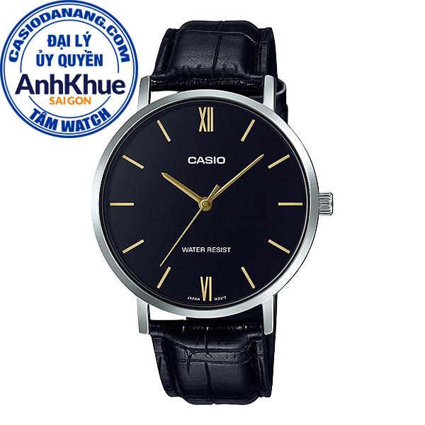 Đồng hồ nam dây da Casio Standard chính hãng Anh Khuê MTP-VT01L-1BUDF (40mm)