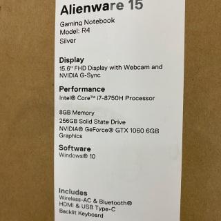 Laptop alienware 15R4 thumbnail