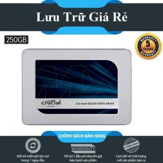 [HCM]Ổ cứng SSD Crucial MX500 3D-NAND SATA III 2.5 inch 250GB - Hãng Phân Phối Chính Thức thumbnail
