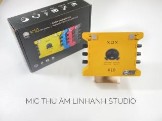 Soundcard thu âm chuyên nghiệp XOX K10 bản 2020 - BẢN NÂNG CẤP IC ,TIẾNG ANH- BẢO HÀNH 12 tháng thumbnail