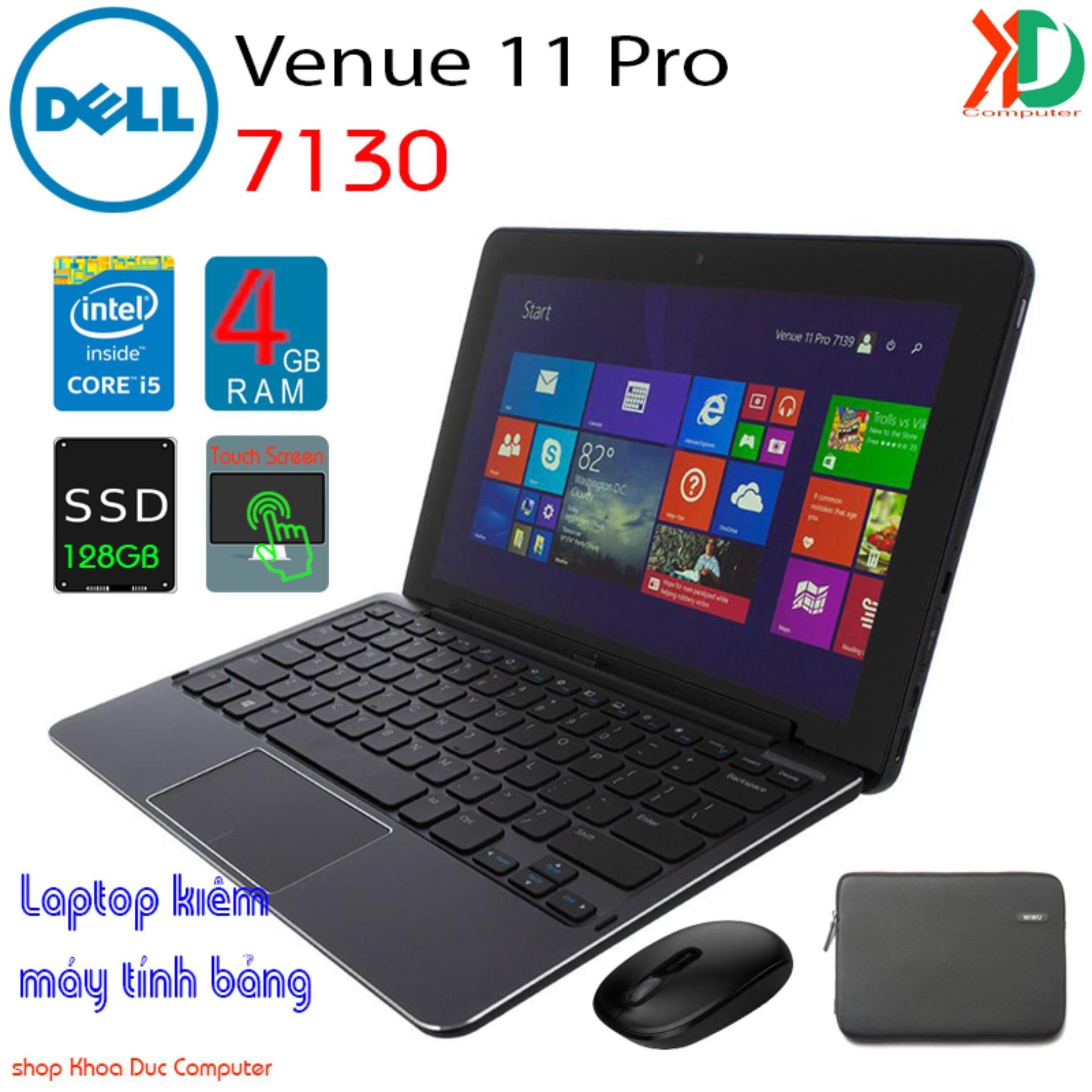 Coupon Ưu Đãi Laptop Kiêm Máy Tính Bảng Dell Venue 11 Pro-7130 Core I5-4300Y, 4gb Ram, 128gb SSD, Màn Hình Cảm ứng Full HD 11inch